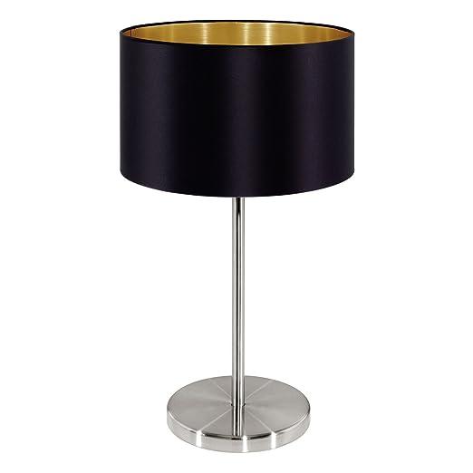 Maserlo table lamp shade colour black gold amazon lighting maserlo table lamp shade colour black gold aloadofball Gallery