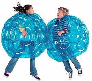 Z&HAO 2 Pcs Activité Extérieure Gonflable Bubble Tampon Boules Collision Corps Bumper Ball Amical pour Enfants Et Adulte Drôle Corps Punching Ball,Blue,90Cm