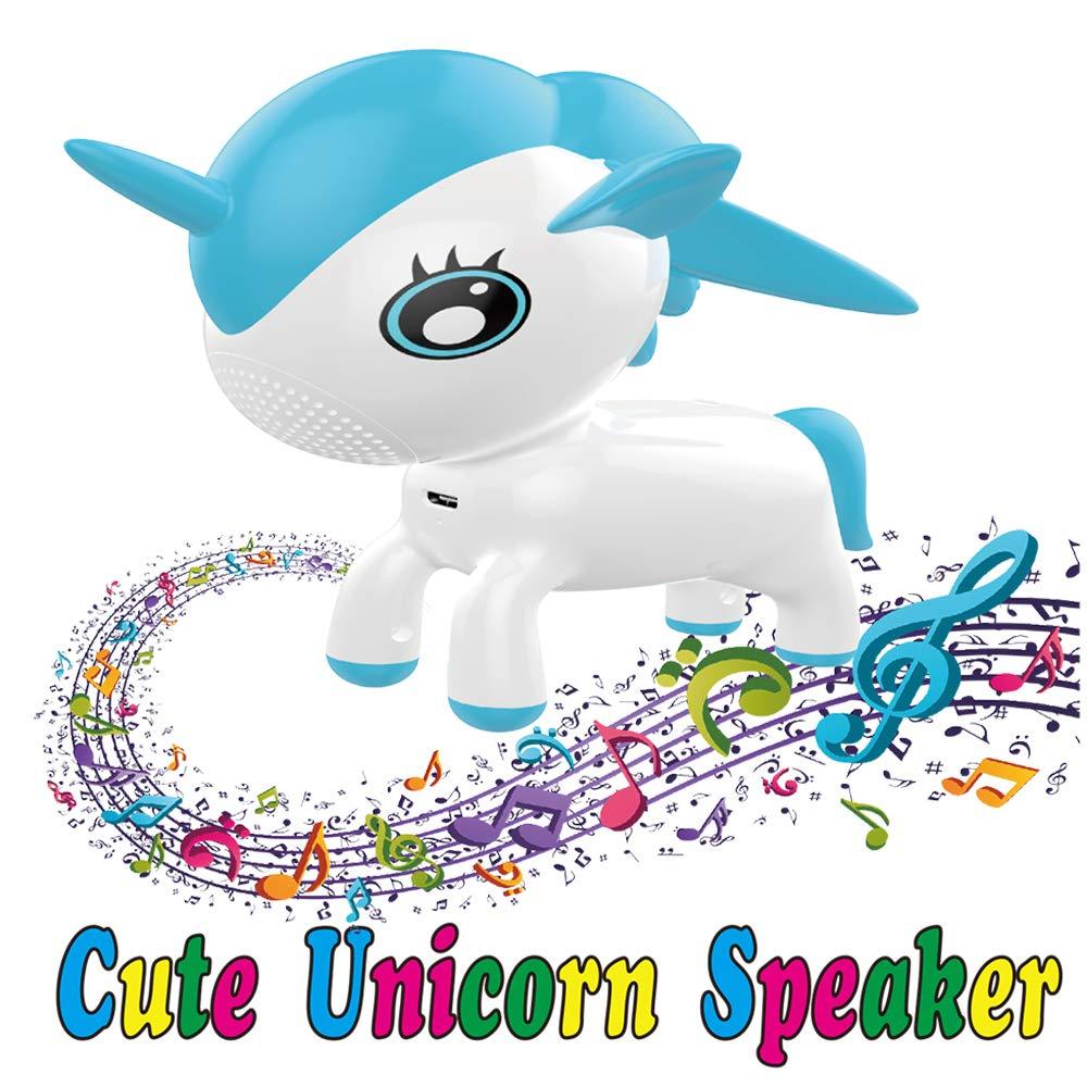 KILOTOY Portable Unicorn Pet Wireless Speaker with Color...