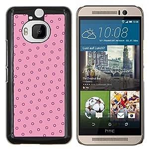 Caucho caso de Shell duro de la cubierta de accesorios de protección BY RAYDREAMMM - HTC One M9Plus M9+ M9 Plus - lunares del rosa del vintage papel tapiz rojo