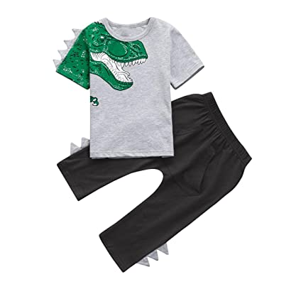 Iuhan Boys Camouflage Clothes 1-4Years Kids Letter T Shirt Tops+Shorts Outfits Set