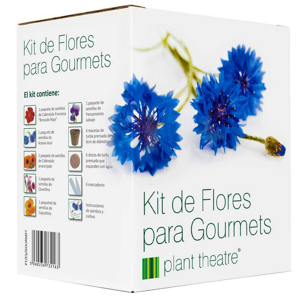Plant Theatre Kit de Flores para Gourmets - 6 variedades comestibles de flores para crecer: Amazon.es: Jardín
