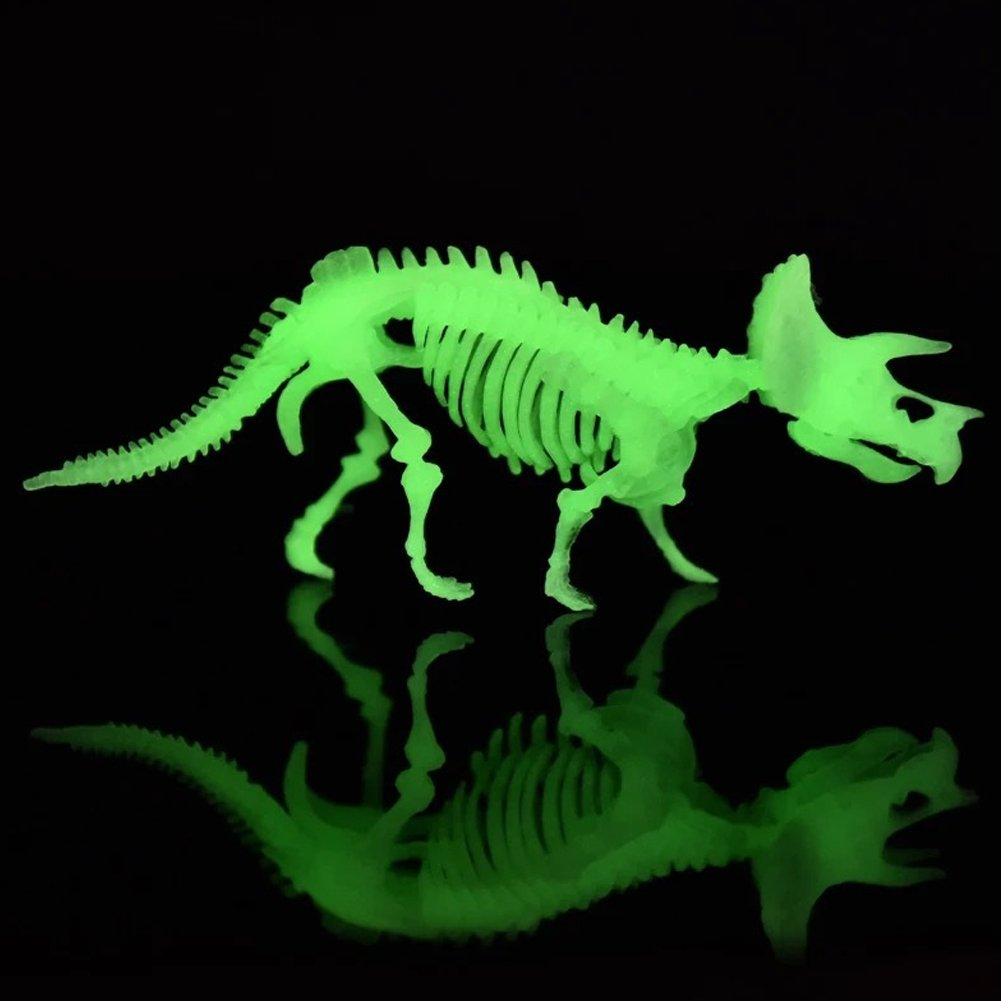 MCpinky Dinosaur Fossil Toys, Dinosaur Skeleton Bones Toy Excavation Science Kit Archaeology Paleontology Study with Tools Dinosaur Luminous Toys