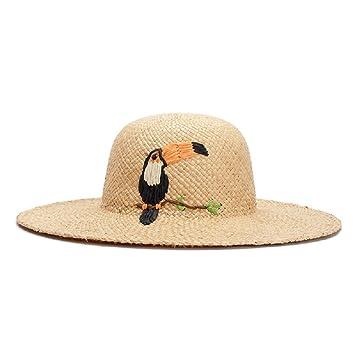 ALWLj Sombreros de verano para mujeres de paja de rafia natural sombrero  para el Sol Playa b917d3351eb