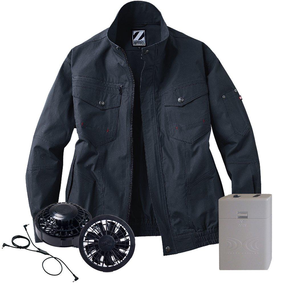 空調服 Z-DRAGON ブルゾン黒ファン電池ボックスセット 74001 自重堂 B07D69Z5HK EL|131シックブラック 131シックブラック EL
