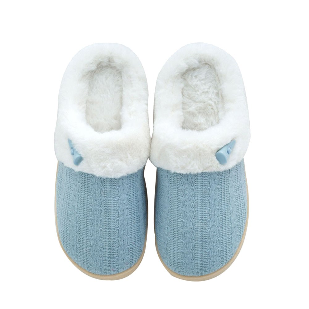 NineCiFun Women's Fuzzy Winter Slippers Outdoor House Slippers Fur Lined