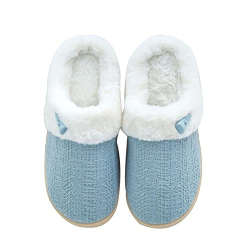 8f3f859cf NineCiFun Women's Winter Slippers Fuzzy House Outdoor Slippers (5-6 M US,  Light