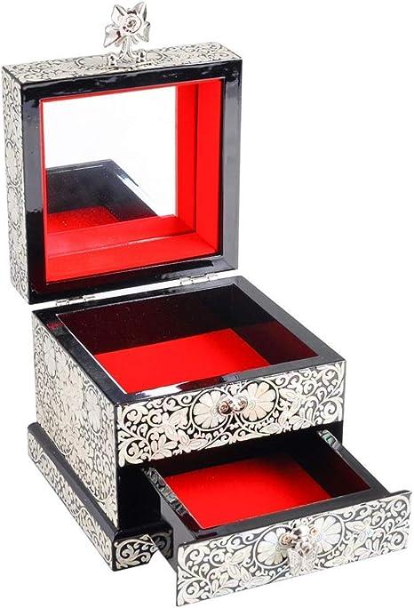 ZWMM Caja para Relojes Hombre Mujer Caja de joyería para Mujer, Caja de joyería Almacenamiento de joyería de Madera para Anillos de Collar Pendientes pequeños y Simples Relojes: Amazon.es: Deportes y aire