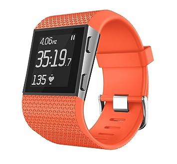 Bracelet Montre Montre connectée Fitbit Surge Bracelet, Silicone Ajustable Remplacement Band pour Fitbit Surge Montres