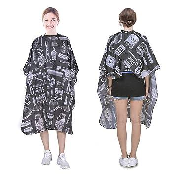 Lanzamiento de impresión de mantón vestido de corte de pelo peluquero belleza mantón unisex delantal profesional equipo de peluquería de ...