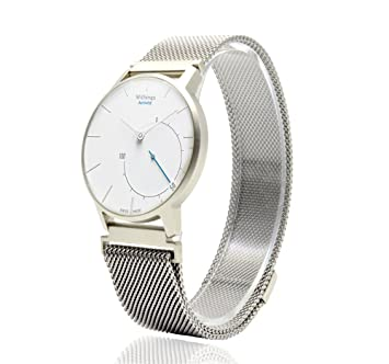 Aresh Withings Activité Nokia 18mm Largeur Accessoire Bande,Cuir véritable Strap Smartwatch Band pour Withings