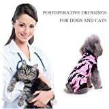 PanDaDa Dog Anxiety Jacket Anti-Anxiety Shirt Stress Relief Keep Calm Clothes, Pet Protective Weaning Anti-Licking Clothes Post-Operation Shirts Clothes Comfortable Pet Surgical Gown