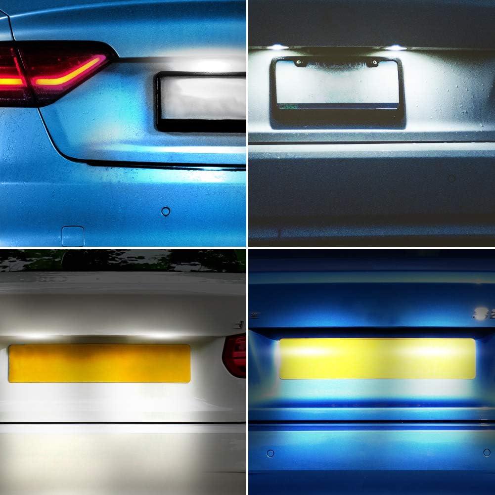 W203 5D W219 4D W211 4D W211 5D M-E-R-C-E-D-E-S B-E-N-Z Kennzeichenbeleuchtung LED Kennzeichen Licht Auto Nummernschildbeleuchtung Nummernschilder Licht f/ür W203 5D R171 2D