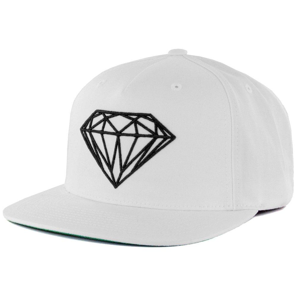 9eb03d6aa Amazon.com: Diamond Supply Co. Brilliant Snapback Hat (White/Black ...