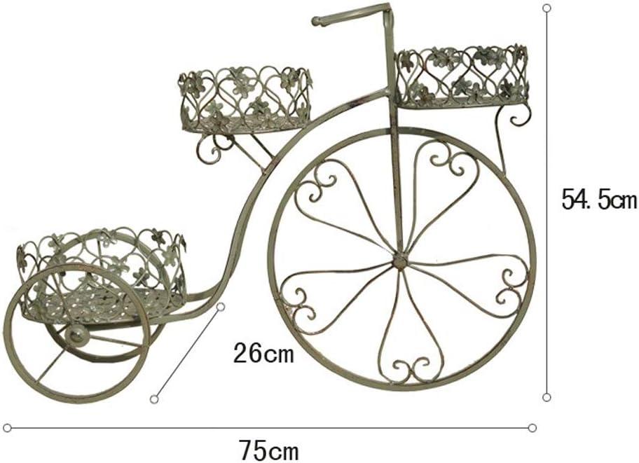 CATRP - Soporte de Hierro Forjado con Forma de Bicicleta para balcón, Soporte de pie para Plantas al Aire Libre, Estilo Retro: Amazon.es: Jardín