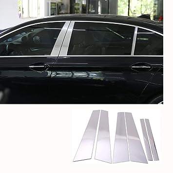 Kit de accesorios para ventanas de aluminio pulido para decorar exteriores, de aleación de carbono