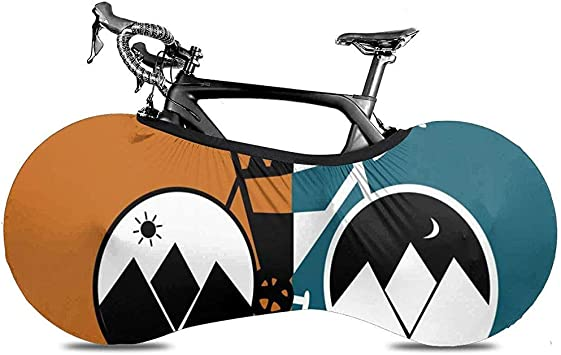 Cubierta De Bicicleta,Fundas De Bicicleta Adaptables Sunset Mountain Carriage Cartoon para Bicicletas Plegables O Bicicletas De Carreras: Amazon.es: Deportes y aire libre