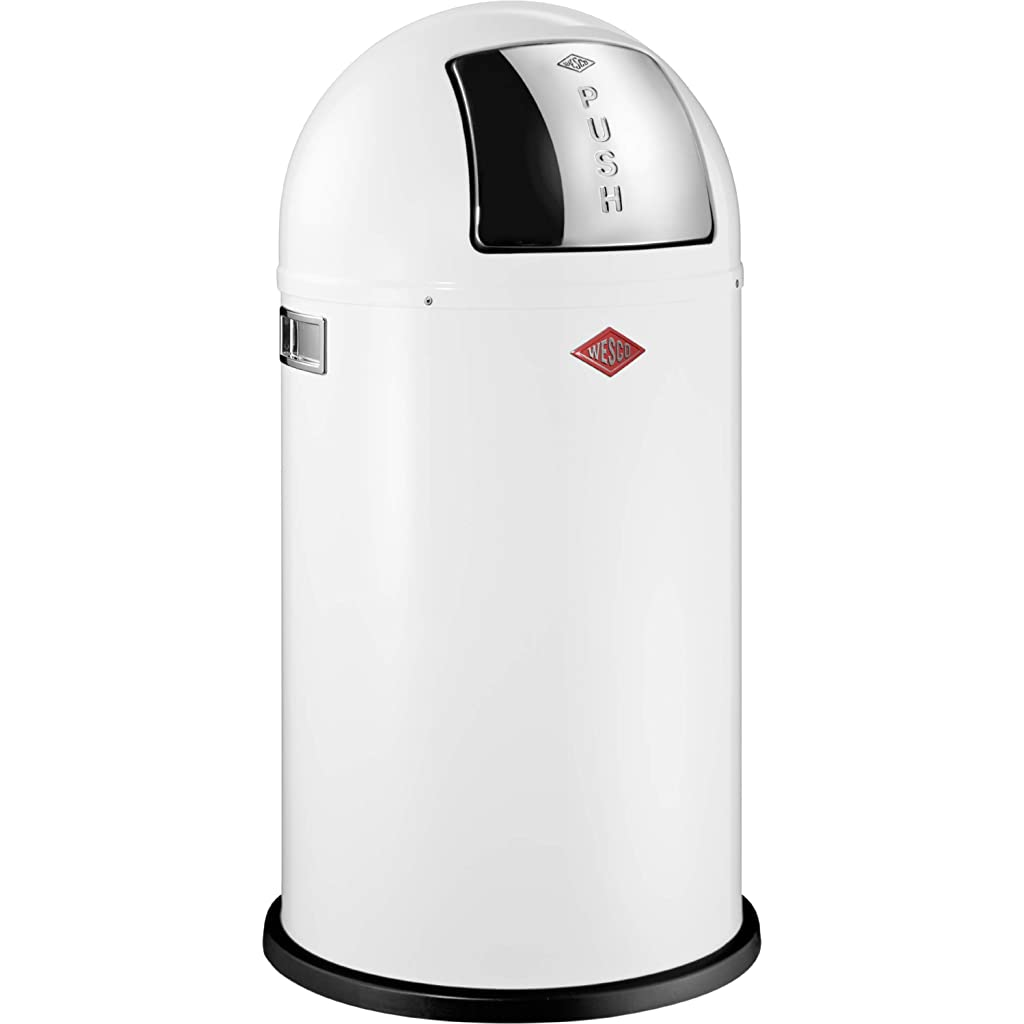 Wesco Pushboy 50 Litre Bin - White