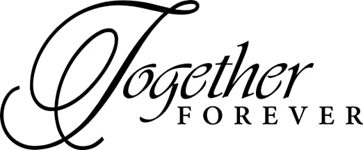 Amazon.com: Together Forever Quotes Living Room Picture Art ...
