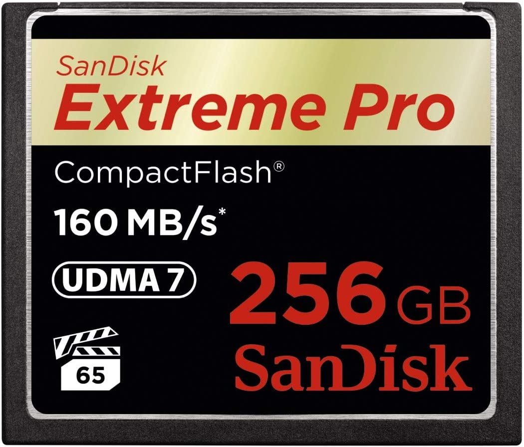 SanDisk Extreme PRO 256GB CompactFlash Memory Card UDMA 7 Speed Up To 160MB/s- SDCFXPS-256G-X46