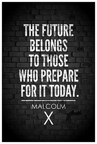 Malcolm X The Future Belongs To Those Who Prepare For It Today Quote Wall Poster