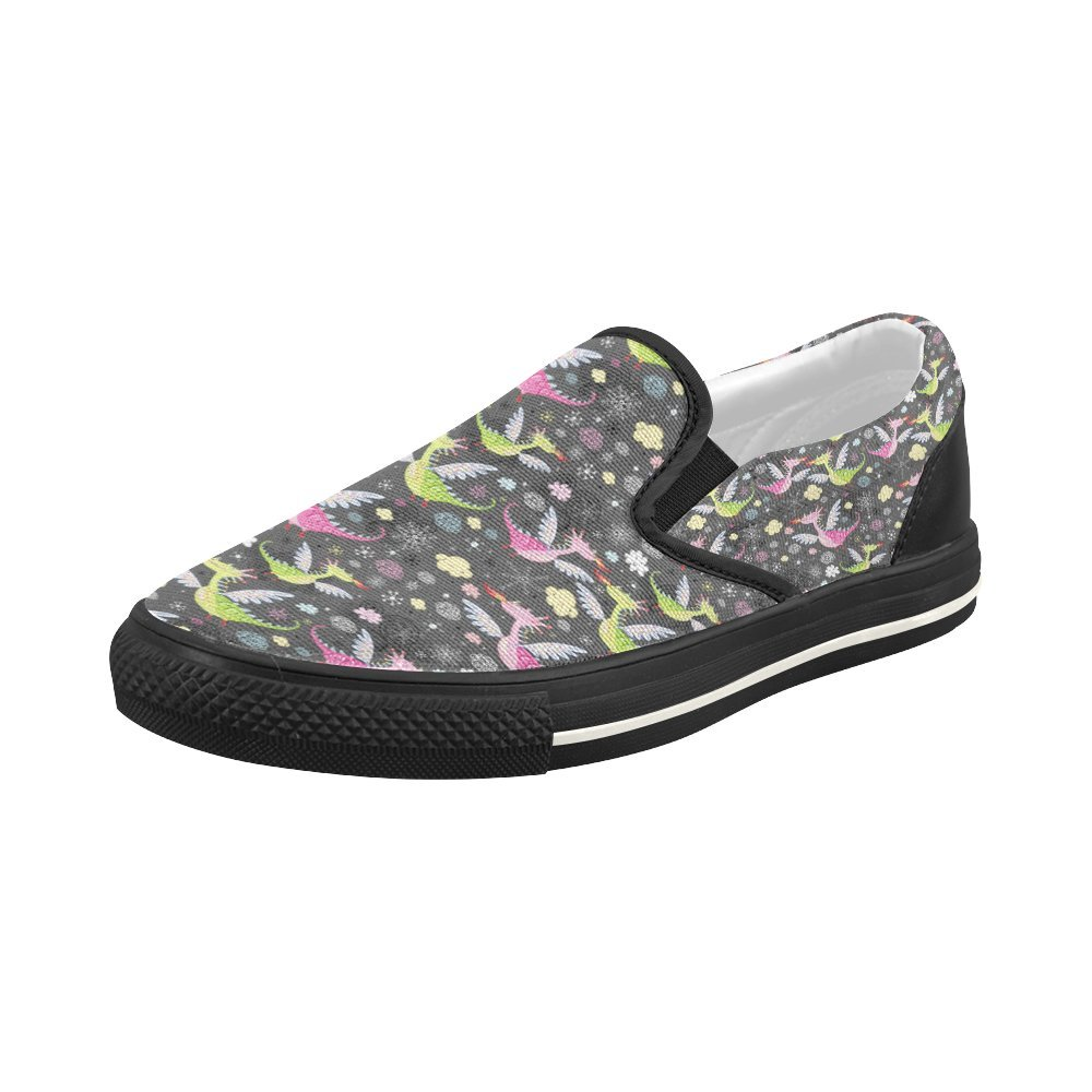 Shoes Flying Dinsosaurs Slip-on Canvas Loafer for Women