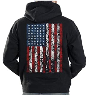 164745c614 Amazon.com: Threadrock Men's USA American Flag Hoodie Sweatshirt ...