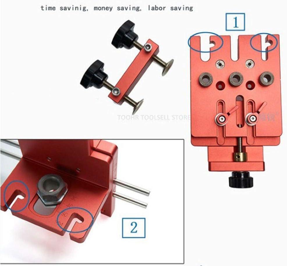 posicionador Plantilla de minifix perforador de Taladro carpinter/ía gu/ía 3 en 1 localizador WLLP Kit de Plantilla de minifix de Plantilla de Espiga Universal de Alta precisi/ón Kit de Sistema