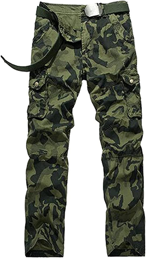 OnIn Handsom Mens Slim Fit Straight Leg Camouflage Casual Pants Hot and Fashion
