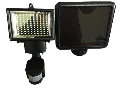 Luz de 100 LEDs solar con sensor de movimiento de Lightahead®, impermeable y resistente