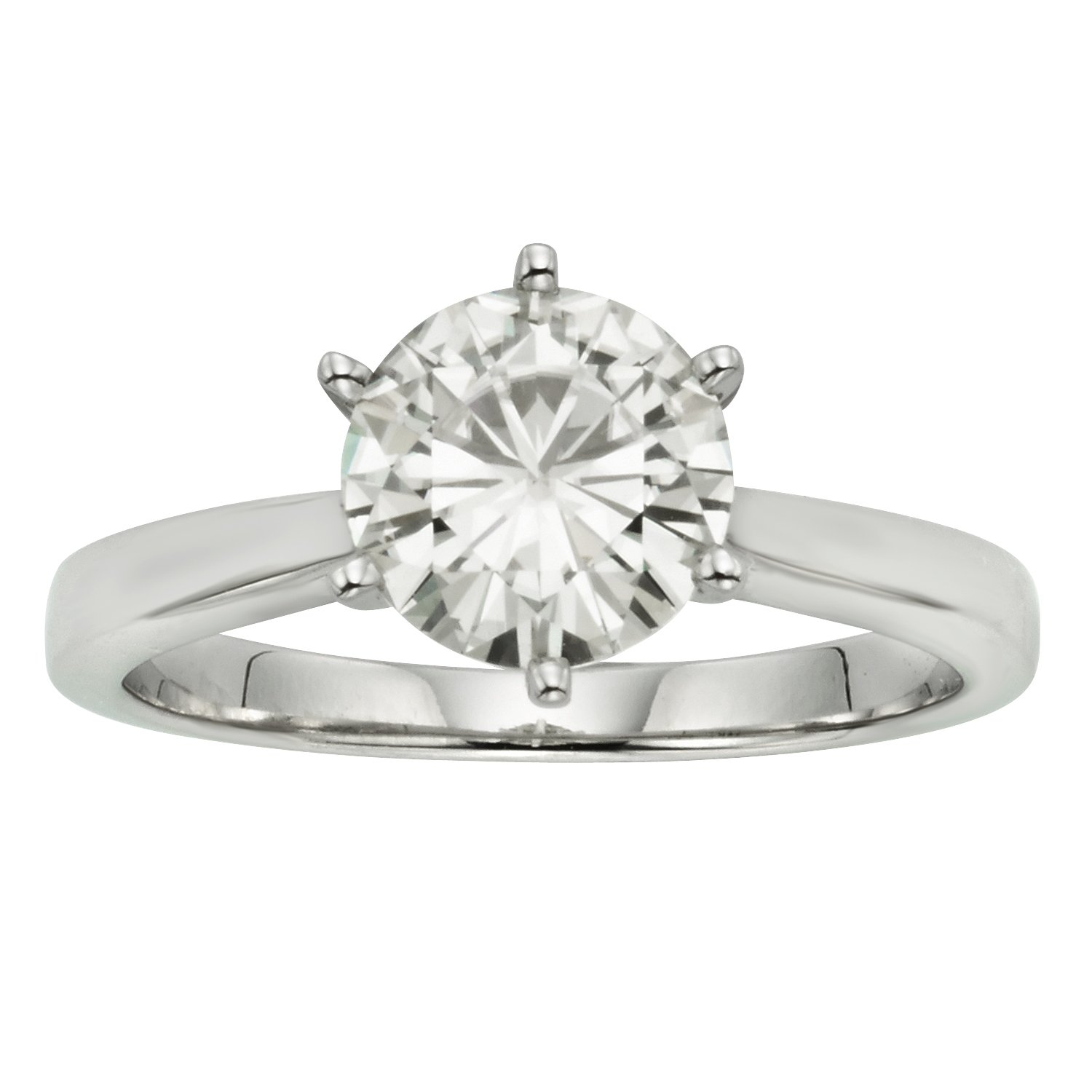 Forever Classic Round 6.0mm Moissanite Engagement Ring-size 9, 0.80ct DEW By Charles & Colvard