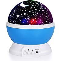 TECHVIDA Kids Star Night Light, 360-Degree Romantic Rotating Star Moon Sky Projector Night Projector Light Lamp Colors…