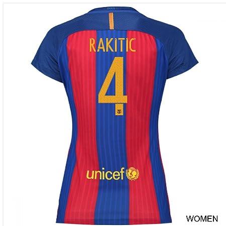 new product 0f1fd 25dcc Women's FC Barcelona 4 Ivan Rakitic Home Soccer Football ...