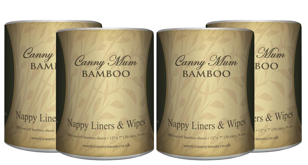 CannyMum Windelvlies & Tücher aus Bambus. Trockene Tücher oder selbstgemachte Feuchttücher. (200 Blatt/Rolle) Canny Way CM-5905950