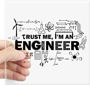 "CafePress Trust Me I'm an Engineer Sticker Square Bumper Sticker Car Decal, 3""x3"" (Small) or 5""x5"" (Large)"