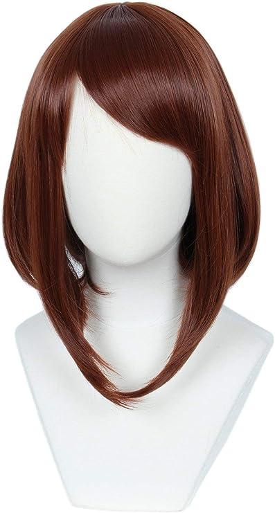 SEESEE.U Peluca de Color Rojo marrón para Mujer Disfraz de ...