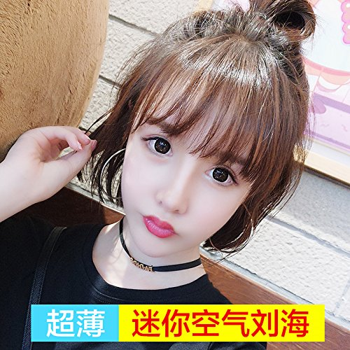 Face short half-true family style doll stickers princess bride real light fluffy round face and long hair wig in top care