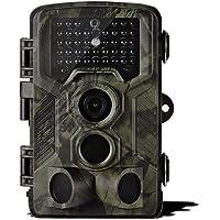 Lixada Wildkamera 12MP 1080P/16MP 1080P 2G MMS SMS Hinterkamera mit PIR-Sensor Infrarot Nachtsicht 0,5s/0.3s Superschneller Auslöser IP65 Wasserdicht
