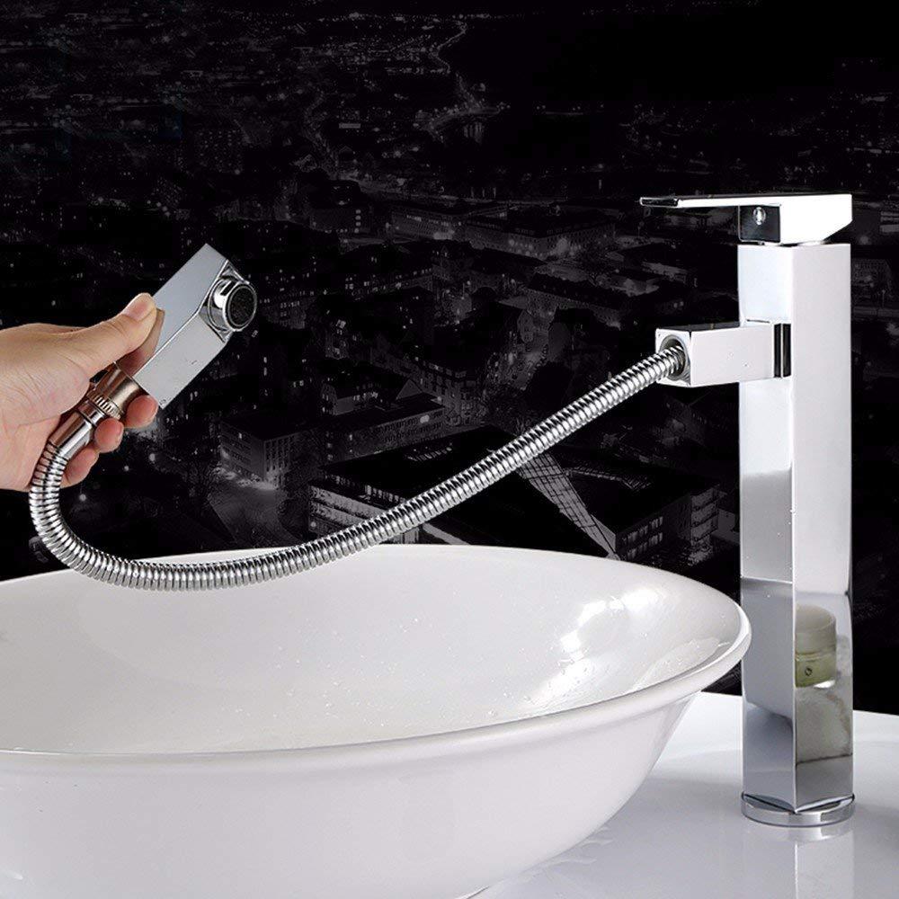 JingJingnet 流域ミキサータップ浴室シンク蛇口、ホットとコールドフル銅シャンプー蛇口、伸縮洗面台、シンク、蛇口を回転させるために浴室のシンクの蛇口000をタップ (Color : B) B07R9MB1XZ B