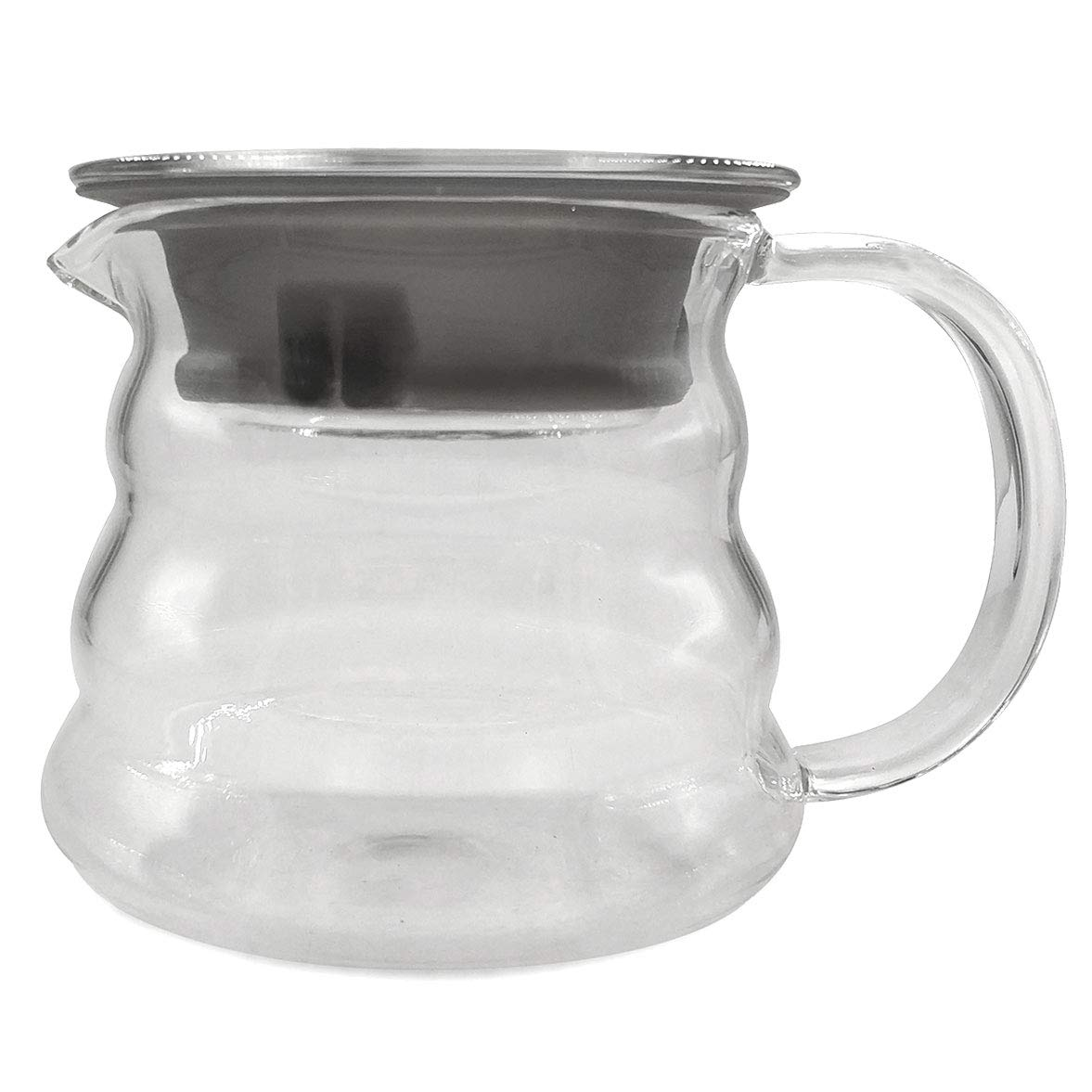 DayCount® Glass Coffee Maker Teapot Juice Container Clear Heat Resistance Server (300ml) DC0109