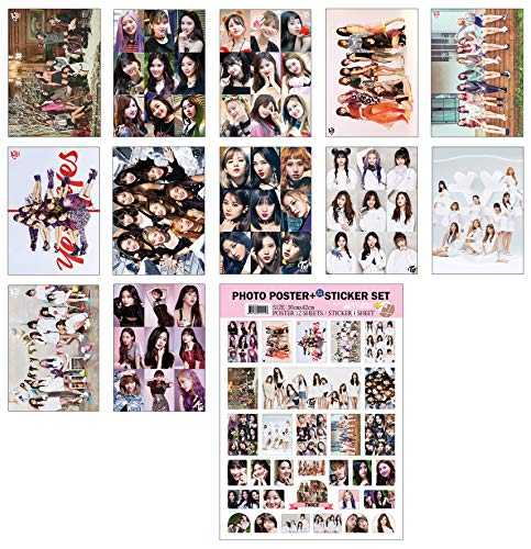 IDOLPARK K-POP Group 2019 New 12 Posters + 1 Sticker Set (All A3 Size) (Twice)