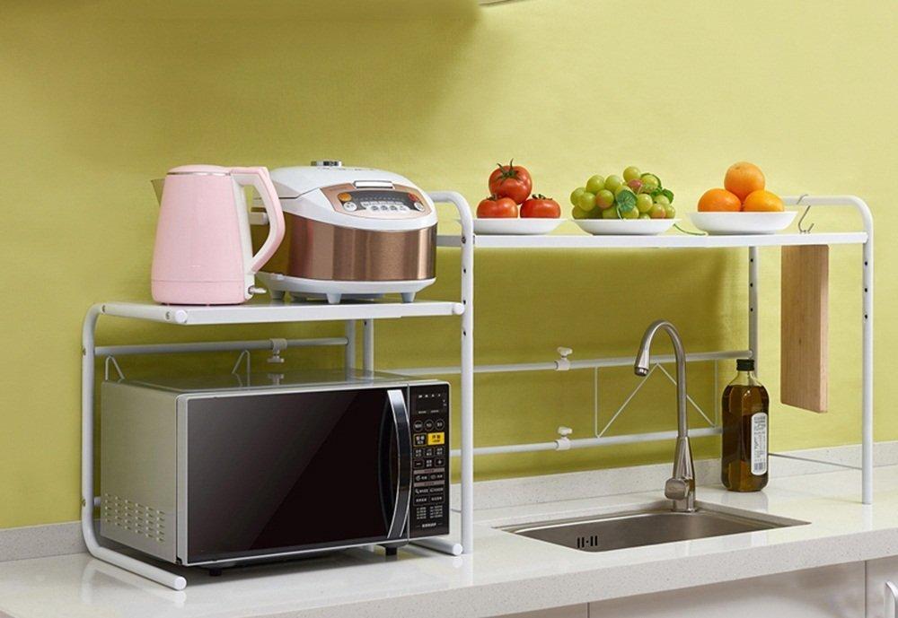 GRY Estante de cocina retráctil / Parrilla de microondas ...