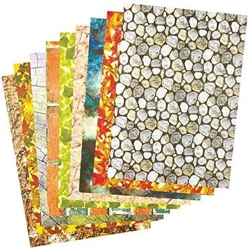 Bastelpapier Din A4 Mit Naturmustern Für Kinder Zum Basteln