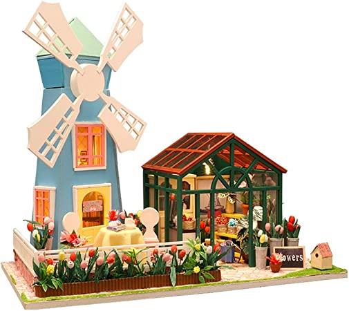 FBGood DIY - Casa de muñecas de Madera - Kit de Muebles para casa y casa 1:24