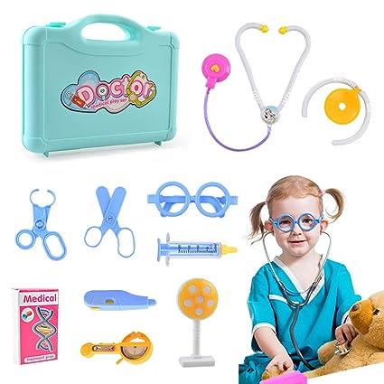 SUNTOY Juguete para niñas de 3 a 12 años, Kit médico para ...