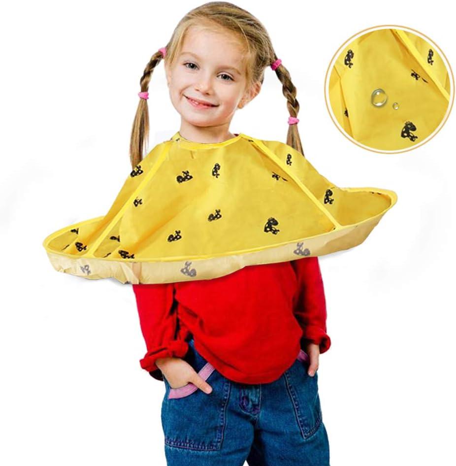 Capa de pelo para niños, peluquería infantil para sombrilla para niños, mantón impermeable para niños, peluquería