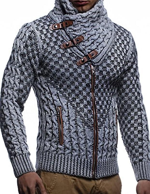 Leif Nelson Męska kurtka z dzianiny z zamkiem błyskawicznym, czarna kurtka na zimę, lato, kurtka przejściowa z kapturem, kurtka zimowa dla mężczyzn, kurtka rekreacyjna Slim Fit LN5340: Odzież
