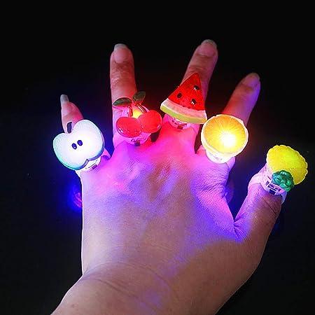 lEIsr00y Anillo de Dedo luz LED, 50 Unidades, Mini UVA, Manzana ...