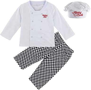 MOMBEBE COSLAND Conjunto de Camiseta Disfraz Cocinero para Bebé ...