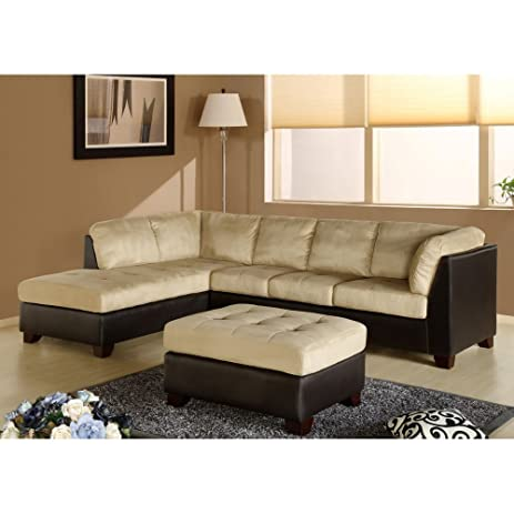 Charlotte Sectional Sofa and Ottoman in Beige By Abbyson Living  sc 1 st  Amazon.com : abbyson living sectional - Sectionals, Sofas & Couches